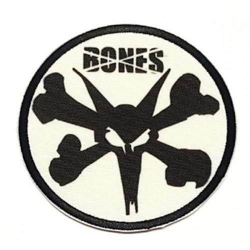 Parche bordado BONES CALAVERA  7,5cm