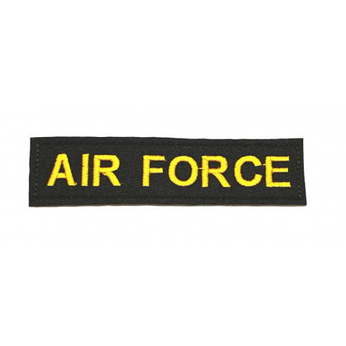 Parche bordado  AIR FORCE 10cm X 2,5cm