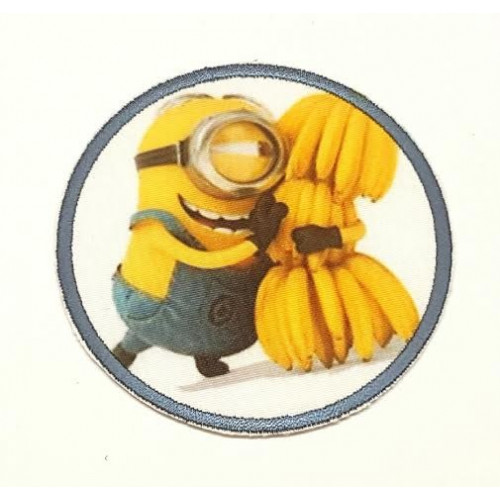 Embroidery and textile Patch BANANA MINION  7,4cm