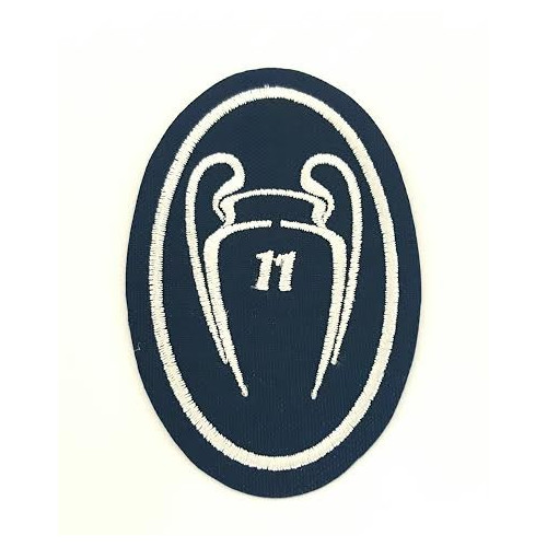 Embroidery patch  11 CUPS CHAMPIONS REAL MADRID NUEVO 5CM X 7,5cm
