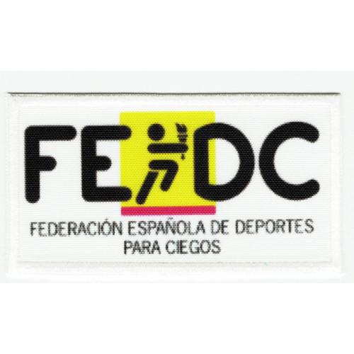 Parche bordado y textil FEDERACIÓN ESPAÑOLA DE DEPORTES PARA CIEGOS  8,5cm x 4,5cm