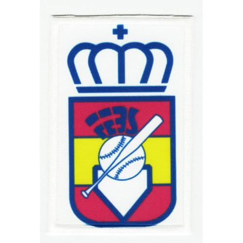 Embroidery and textile patch FEDERACIÓN ESPAÑOLA DE BEISBOL 5,5cm x 8,5cm