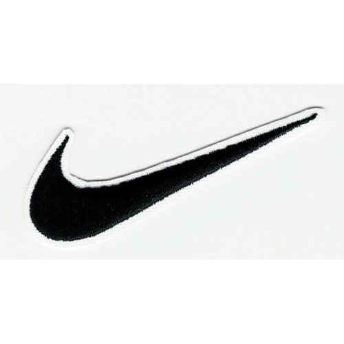 BLACK  NIKE LOGO embroidery patch 6.5cm x 2.5cm