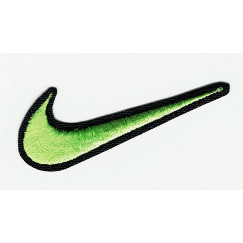 WHITE NIKE LOGO embroidery patch 6.5cm x 2.5cm