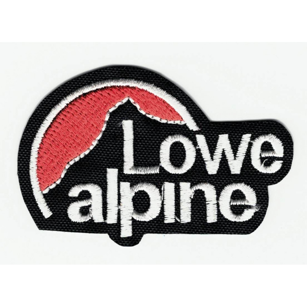Black Lowe Alpine Embroidered Patch 6cm X 4cm