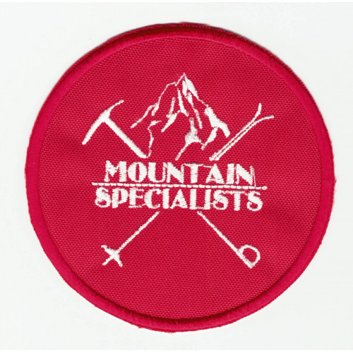 embroidered patch  MOUNTAIN SPECIALISTS  8cm