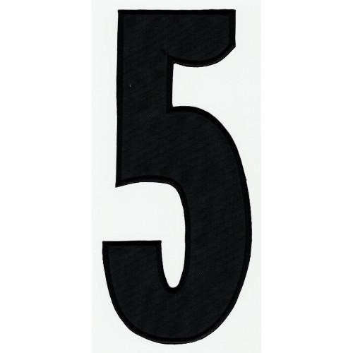 Parche bordado  NUMERO 9 NEGRO 10cm X 4,5cm