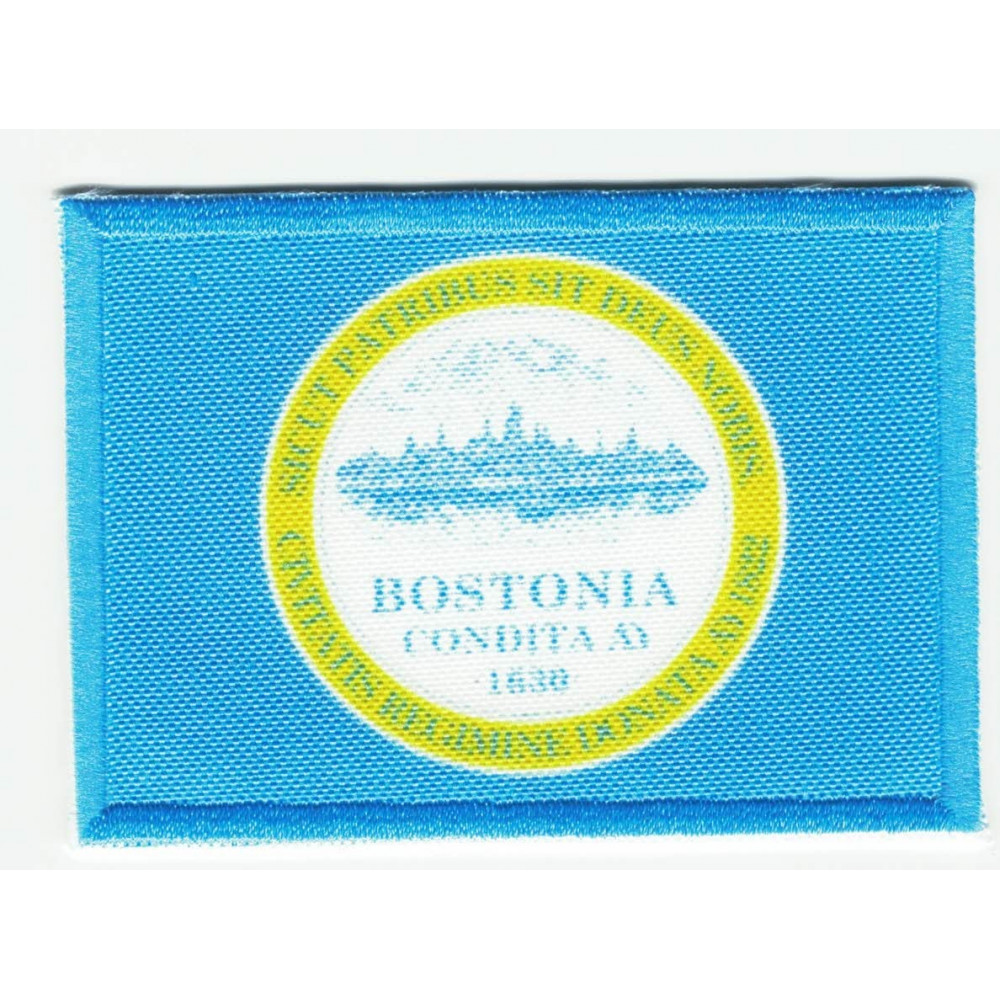 Parche bordado y textil BANDERA BOSTON 4CM x 3CM