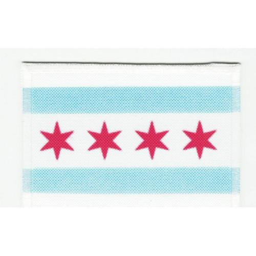 Parche bordado y textil BANDERA CHICAGO 7CM x 5CM