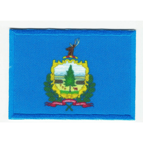 Parche bordado y textil BANDERA BOSTON 4CM x 3CM