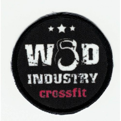 Patch  embroidery KEEP CALM LISTEN TO MUSIC  7cm x 5cm