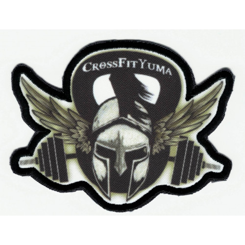 Patch textilo and embroidery CROSSFIT YUMA  9cm x 7cm