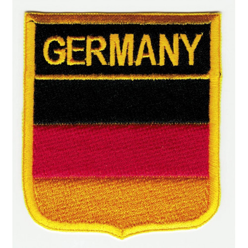 Patch embroidery  SHIELD FLAG GERMANY 6cm x 7cm
