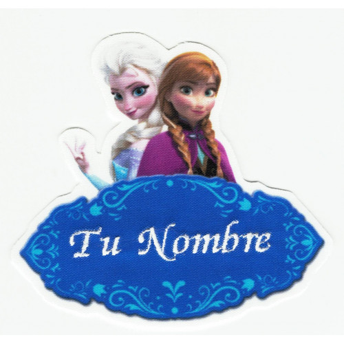 Embroidery Patch FROZEN ELSA AND ANA YOUR NAME 10cm X 8,5cm