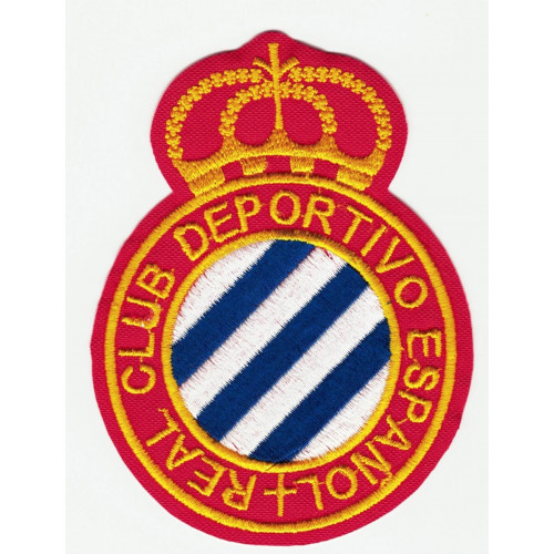 Embroidery patch REAL CLUB DEPORTIVO ESPAÑOL 7cm x 9cm
