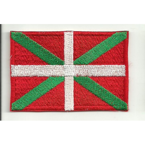 Parche bordado BANDERA IKURRIÑA (Pais Vasco) 7CM x 5CM