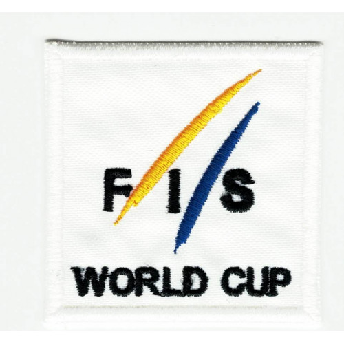Embroidery  patch INTERNATIONAL SKI FEDERATION 5cm x 5cm