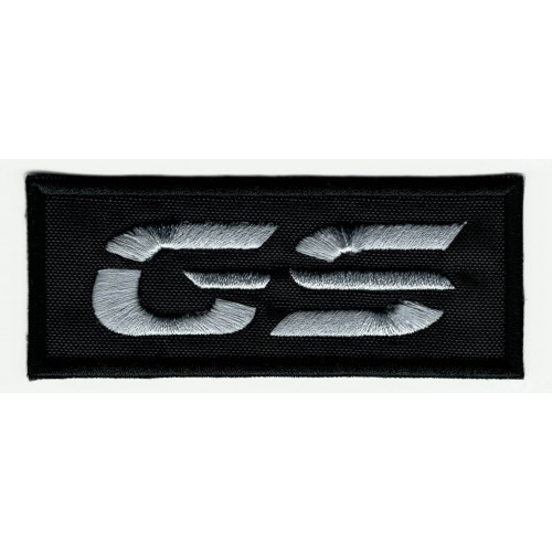 Embroidered patch BMW LOGO GS BLACK 9cm x 3.5cm
