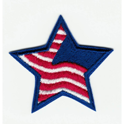 embroidered patch WHITE STAR  7cm