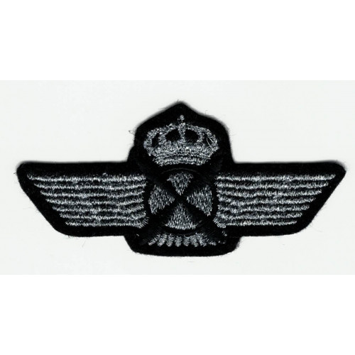 Embroidered patch AVIACION SILVER OLD 8cm x 3,5cm