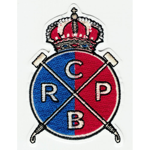 Parche  bordado REAL CLUB DE POLO DE BARCELONA 6cm X 8,5cm