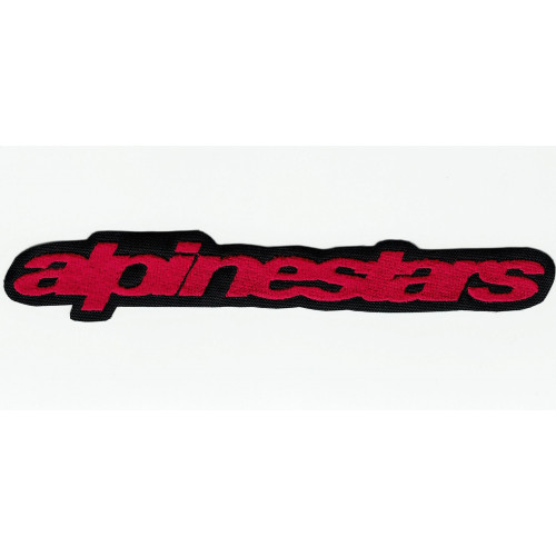 Patch embroidery  ALPINESTARS RED LETTERS 16.5cm x 2.5cm