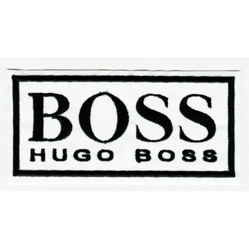 Embroidered patch BOSS 10cm x 4.5cm