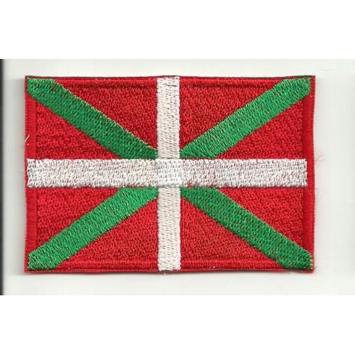 Parche bordado BANDERA IKURRIÑA (Pais Vasco) 4CM x 3CM