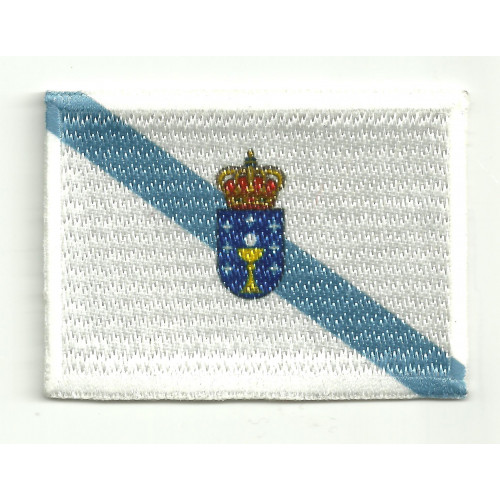 Patch embroidery and textile FLAG GALICIA 7CM X 5CM