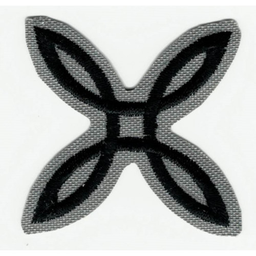 Embroidered patch  GRAY MONTURA  4cm x 4cm