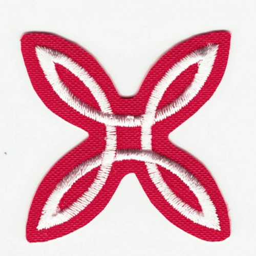 Embroidered patch  RED MONTURA  4cm x 4cm