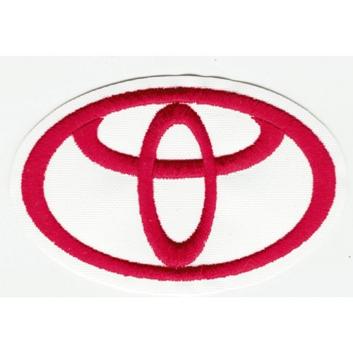 Patch embroidery TOYOTA RED...