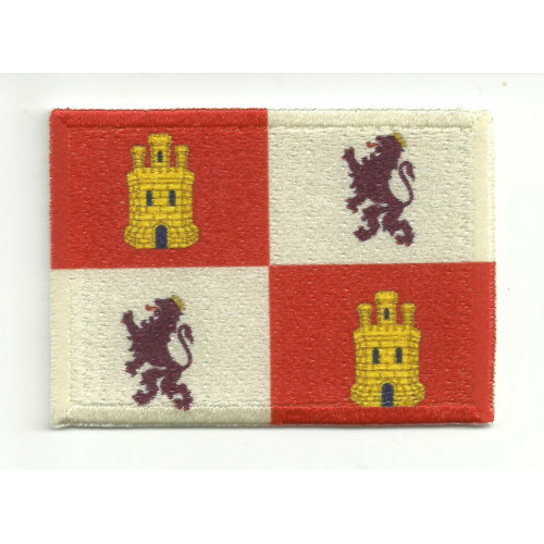 Patch embroidery and textile FLAG CASTILLA Y LEON 4CM X 3CM