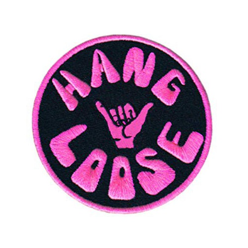 Embroidery patch HANG LOOSE...