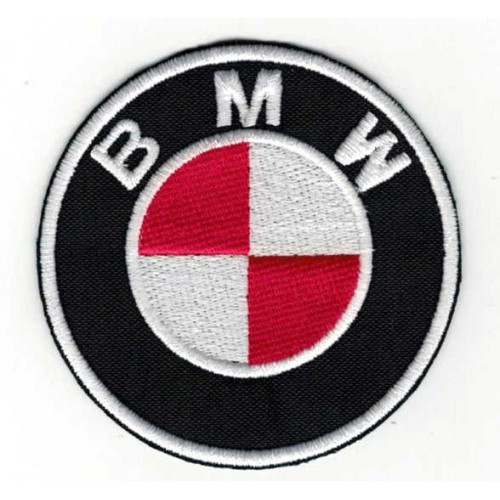 Embroidery patch RED BMW...