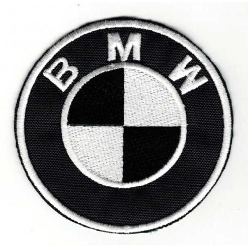 Embroidery patch BLACK BMW...