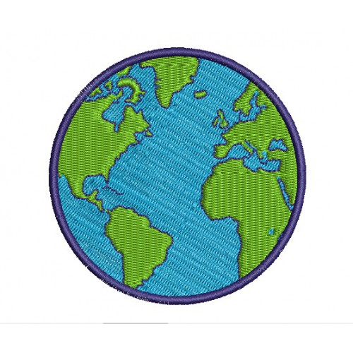 Embroidery  patch GLOBE 25cm