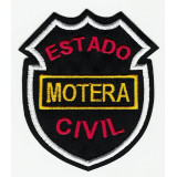 Embroidery Patch ESTADO CIVIL MOTERO 16cm x 13cm