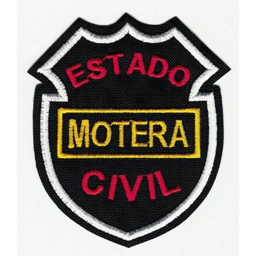 Parche bordado ESTADO CIVIL MOTERA 16cm x 12,5cm