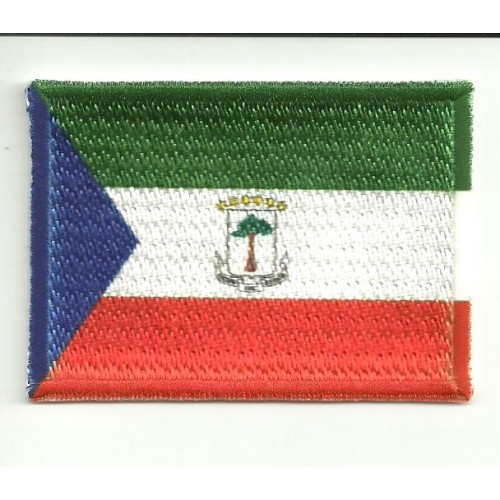 Patch embroidery and textile FLAG GUINEA EQUATORIALE 7CM x 5CM