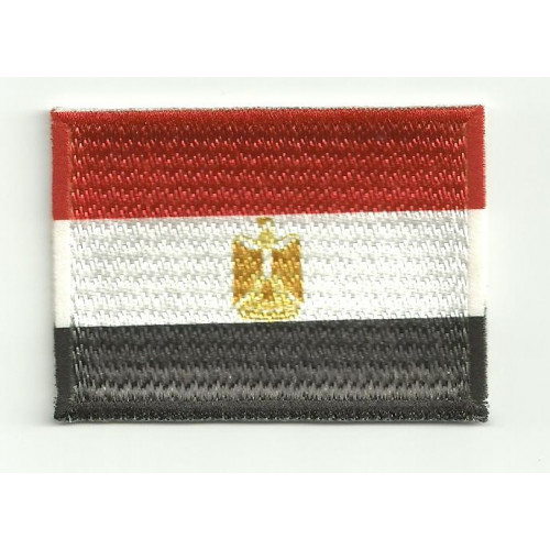 Parche bordado y textil BANDERA EGIPTO 4CM x 3CM