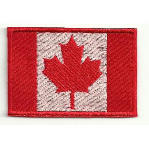 Parche bordado BANDERA CANADA 7cm x 5cm