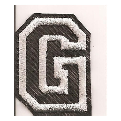 Patch embroidery LETTER G  5cm high