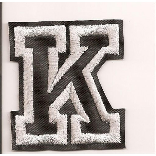 Patch embroidery LETTER K  5cm high